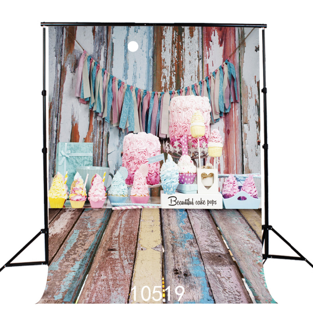 Fabric Cloth Custom Photography Backdrops Prop Wooden Birthday Cake Photo Studio Backgrounds for Wedding Children Baby photocall ashanks photography backdrops 10ft x 13ft fabric cloth chromakey backgrounds porta retrato for dslr photo studio