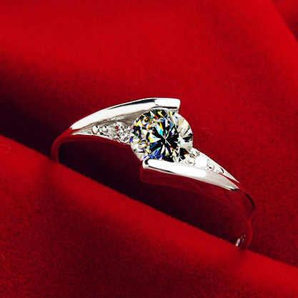 ฟรีแหวนเพชรกิจกรรมพิเศษ 925 Anillos เงินเพชรแหวนพลอยหมั้นผู้ชาย Perkin แหวน