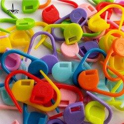 100 Pcs Knitting Weave Ofício da Agulha de Crochê Marcadores Clipe de Plástico Ganchos de Papelaria