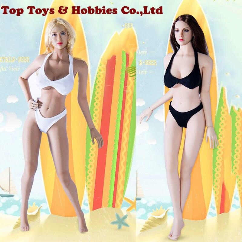 1/6 Scale Woman white/Black Bikini underwear Suit Fit 12 Female PH Doll Action Figure Body Accessories 1/6 Scale Woman white/Black Bikini underwear Suit Fit 12 Female PH Doll Action Figure Body Accessories