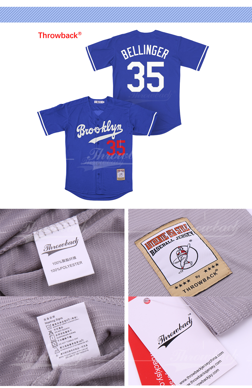 Details about Jersey Men s Brooklyn Los Angeles  42 Jackie Robinson  Baseball black white blu feeac472390