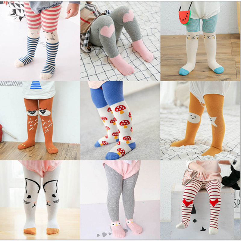 0-3years old Infant tights&stocking For Baby Boys Girls pantynose Cute Cartoon Shaped Anti-slip Panty-hose G003
