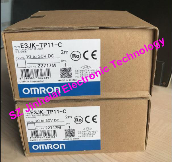 New and original OMRON PHOTOELECTRIC SWITCH SENSOR E3JK-TP11-C 2M 10-30VDC dhl ems 10 sets for omron photoelectric switch sensor e3jk 5m2 e3jk5m2 new in box free shipping