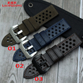 Laopijiang Quality Genuine Leather Watch band 24mm Retro Style Replacement Leather Strap For Mens