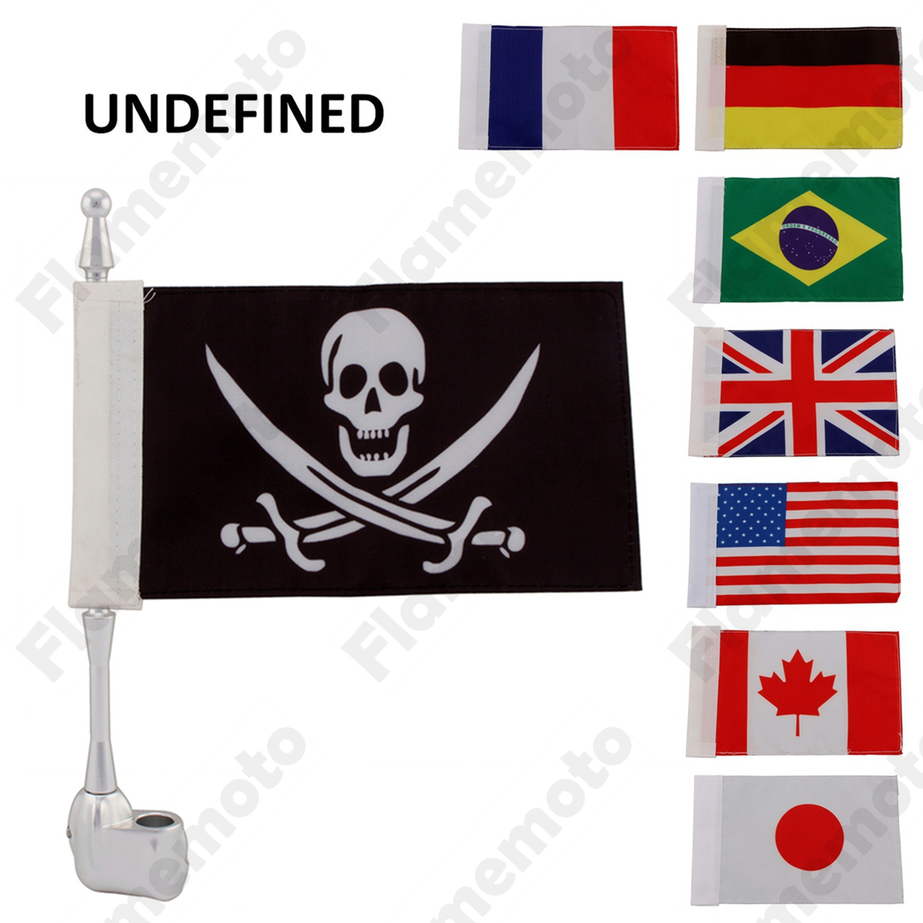 Universal Aluminum Good Quality Motorcycle Accessories Small Silver Mount Flag Pole with Flag Kit For Harley UNDEFINED kitavt75417unv10200 value kit advantus id badge holder chain avt75417 and universal small binder clips unv10200