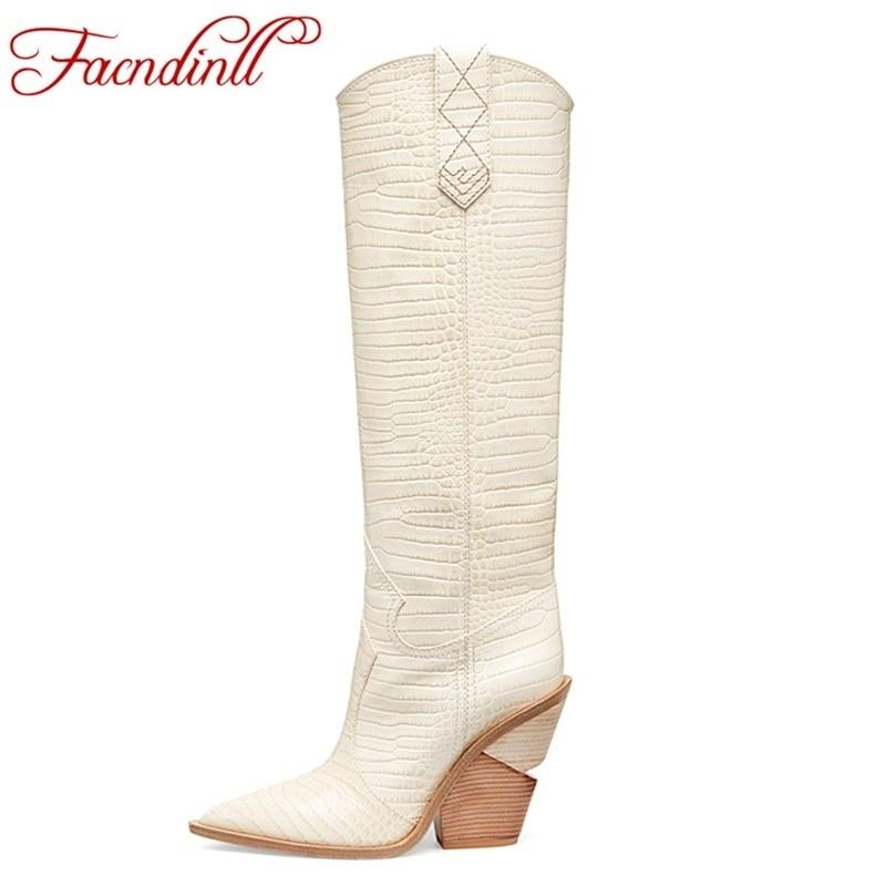 FACNDINLL brand shoes women winter knee high boots fretwork leather high heel riding boots for women thigh high snow boots black цена
