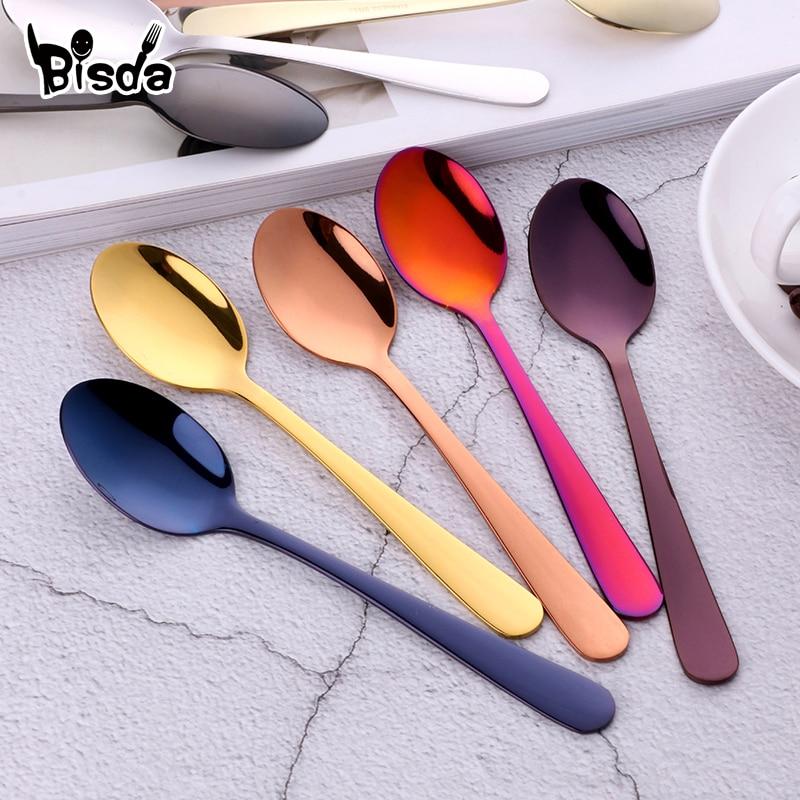 5pcs Silverware 18//10 Stainless Steel eating utensils Rose Gold Flatware set