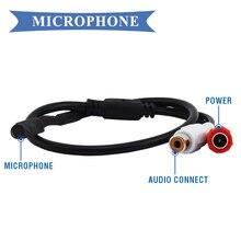 CCTV белый микрофон аудиоприёмник высокий мини микрофон голосовой аудиоприёмник Звуковой Монитор для камер безопасности