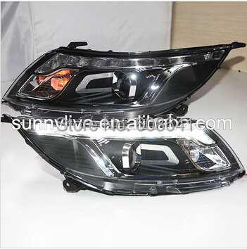 For KIA RIO K2 LED Angel Eyes Head Lamp Projector Lens 2011 -2012 year SYMS