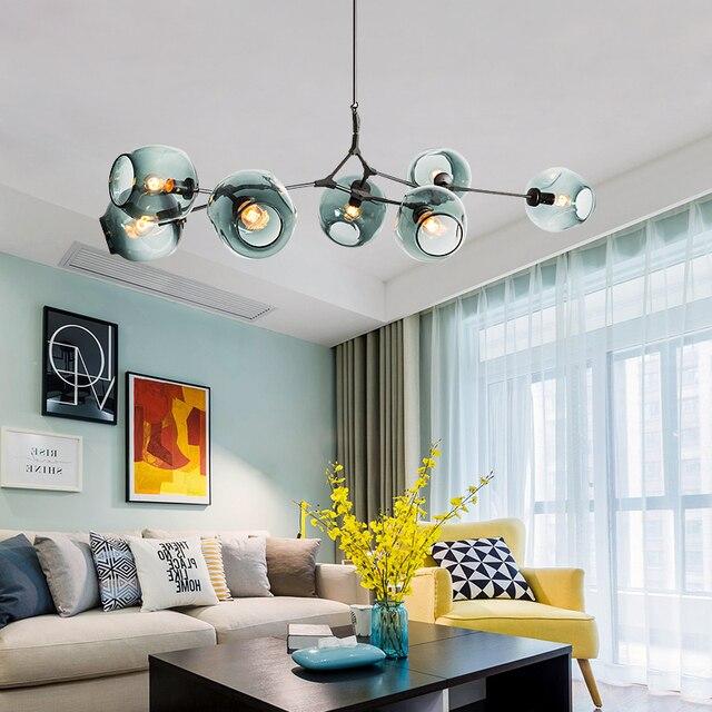 Art Home Deco norbic creavtive restaurant iron branches e27 led bulb chandeliers