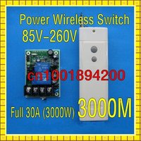 AC85V 280V Wide Voltage input Full 3000W RF Wireless Remote Control Switch Receiver Transmitter Big wiring terminal LNK304PN