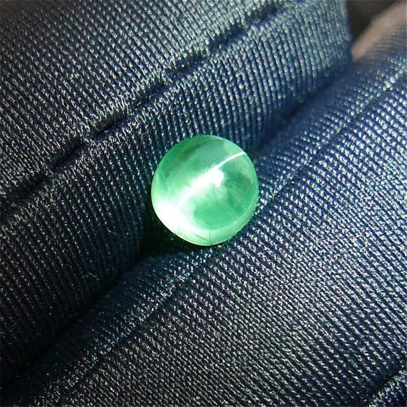 1,38 Carat Natürliche Kolumbien Katzenauge Smaragd Losen Stein Stern Linie Gerade Und Clear Reinigen Höher Aigs Zertifikat