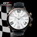 Moda GT ASSISTA Marca Big Dial Homens Pulseira de Silicone de Quartzo Relógio Car Racing Estilo Militar Esportes relógio de Pulso Masculino 2016 Novo