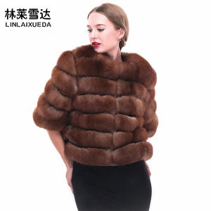 8540db43ab7 Women Winter Real Fox Fur Coat Thick Warm Detachable sleeve Fur Jacket vest  Women s Real fur Coat Outwear Customized
