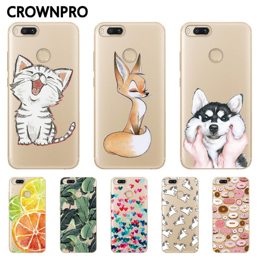 CROWNPRO Xiaomi Mi A1 Case Soft TPU Silicone Cases Xiaomi Mi 5X Mi5X Back Cover mi a1 Transparent Protector Phone Case