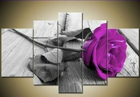Purple Rose Modern Abstract Painting On Canvas Wall Art Canvas Oil Painting Flowers Decor Picture Living