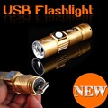 100% Genuíno Sobright 1200LM Mini USB Recarregável LED Lanterna Lâmpada Tocha 3 Modo Zoom Foco Ajustável Portátil Ao Ar Livre Da Tocha