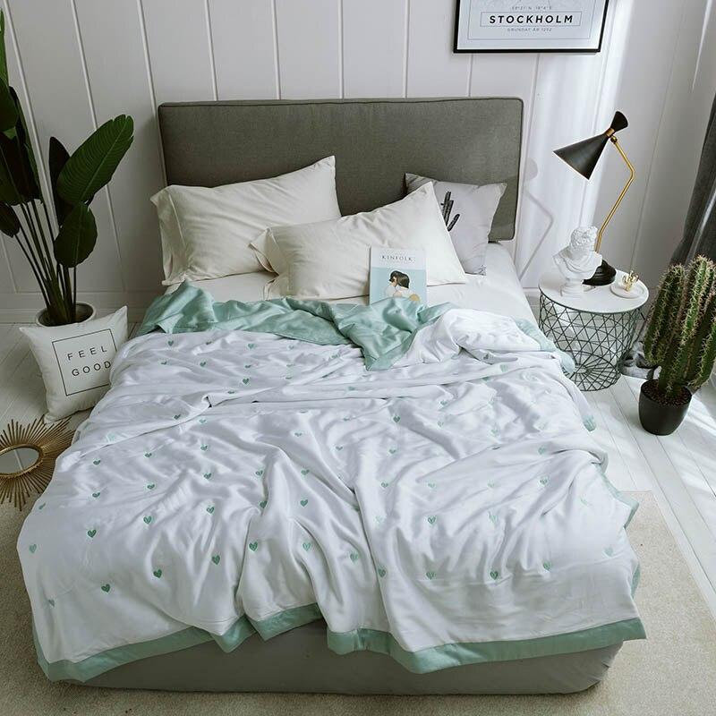 Домашний текстиль шелковая простыня одеяло моющееся сердце одеяло ed взрослые Мягкие Модальные волокна ткань одеяло кожа друг Лето Одеяло s