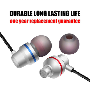 Image 5 - wired earphone 3.5mm extra bass straight line PC subwoofer headset   in ear metal sports music Mobile phone earphone with Mic
