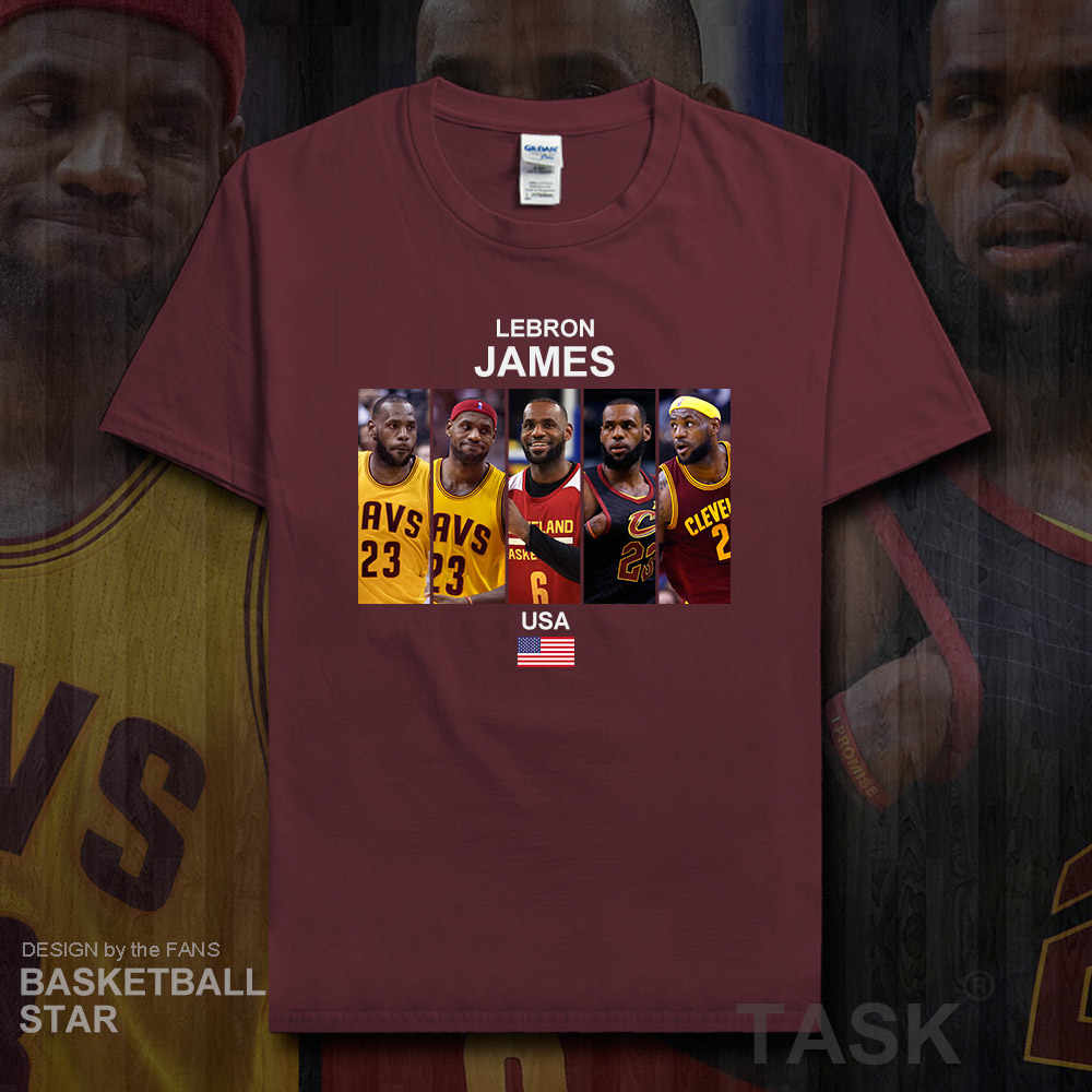 397bcf7e2331 LeBron James t shirt men jerseys USA Los Angeles basketballer star tshirt  cotton clothes fitness t