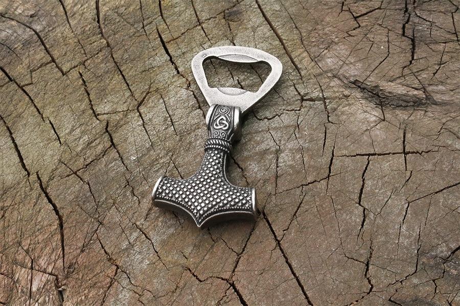 Viking 316L stainless steel thor hammer Mjolnir Scandinavian Bottle opener