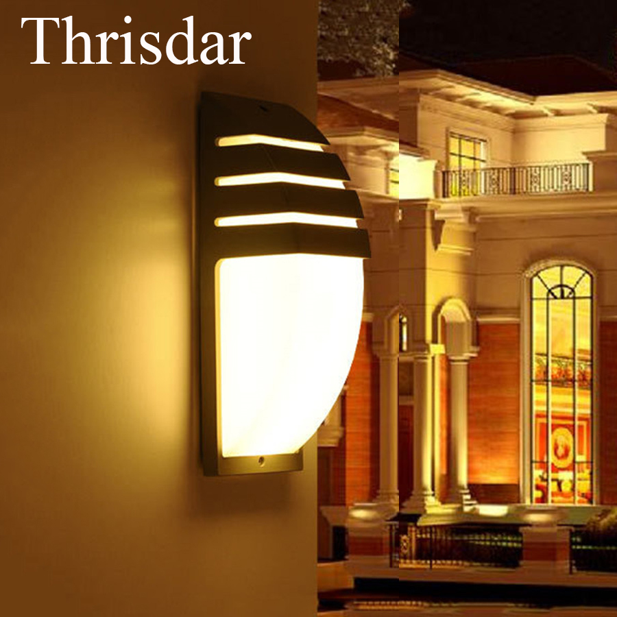 Thrisdar 20W IP65 Waterproof Wall Lamps 40Leds Outdoor Garden Porch Wall Sconce Lamp Corridor Garden Hotel Pathway Porch Light thrisdar 20w ip65 waterproof wall lamps 40leds outdoor garden porch wall sconce lamp corridor garden hotel pathway porch light