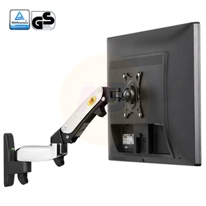 "Image 2 - NB F150 Aluminum Alloy 360 Degree 17"" 27"" Monitor Holder Gas Spring Arm LED LCD TV Wall Mount Loading 2 7kgs"