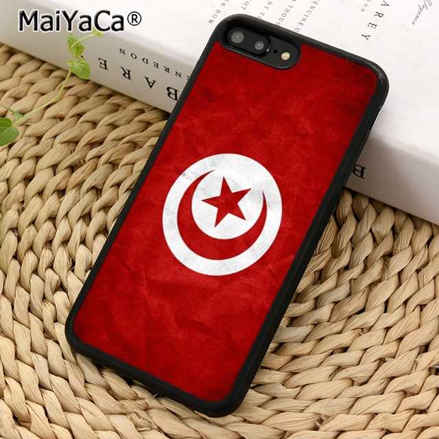MaiYaCa Tunisia bright flag Phone Case Cover For iPhone 5 6 7 8 plus 11 pro X XR XS max Samsung S6 S7 edge S8 S9 S10