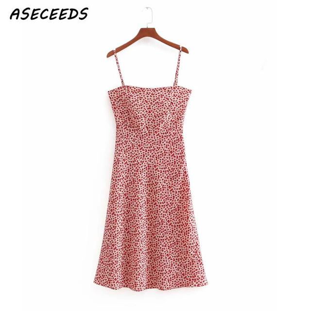 Sexy backless bodycon dress korean floral print beach dress elegant sleeveless midi dress Summer woman dress vestidos 2019 new 1