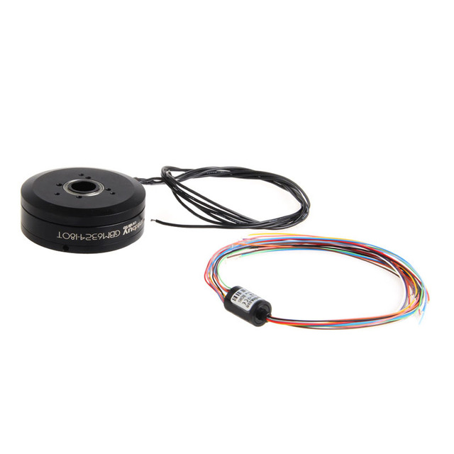 FTBO Brushless Gimbal Motor GBM6324-180T w/Slipring Sealed Electronics Ring Case