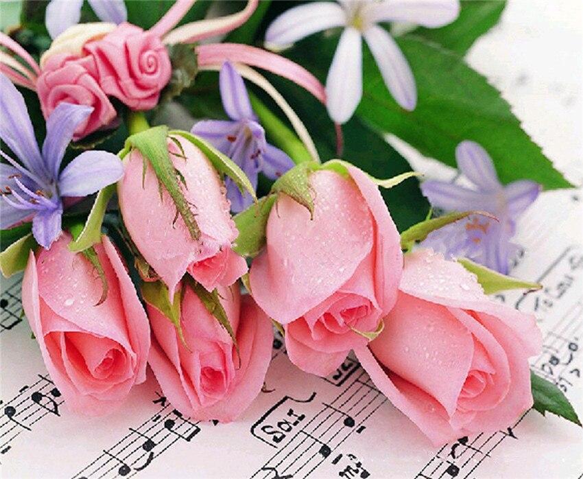 Цветы открытки музыкальные, сам открытку для
