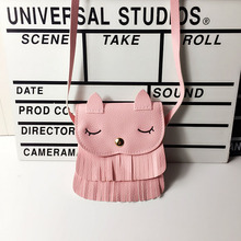 Mini Shoulder Bags for Children Baby Girl Cute Crossbody Bags Girls Princess Cartoon Bunny PU Messenger Bags Tassel Wallet