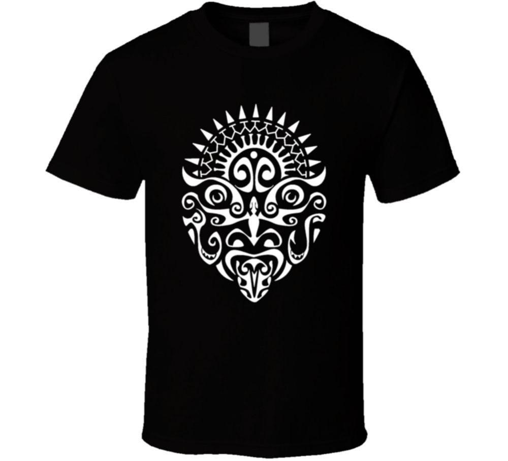 Humor Shirts MenS Maori Warrior Tattoo Face New Zealand Haka Crew Neck Short-Sleeve Compression T Shirts