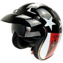 motorcycle helmets retro vintage open face helmets Halley DOT certification With removable visor  Motorbike Jet Vintage helmet