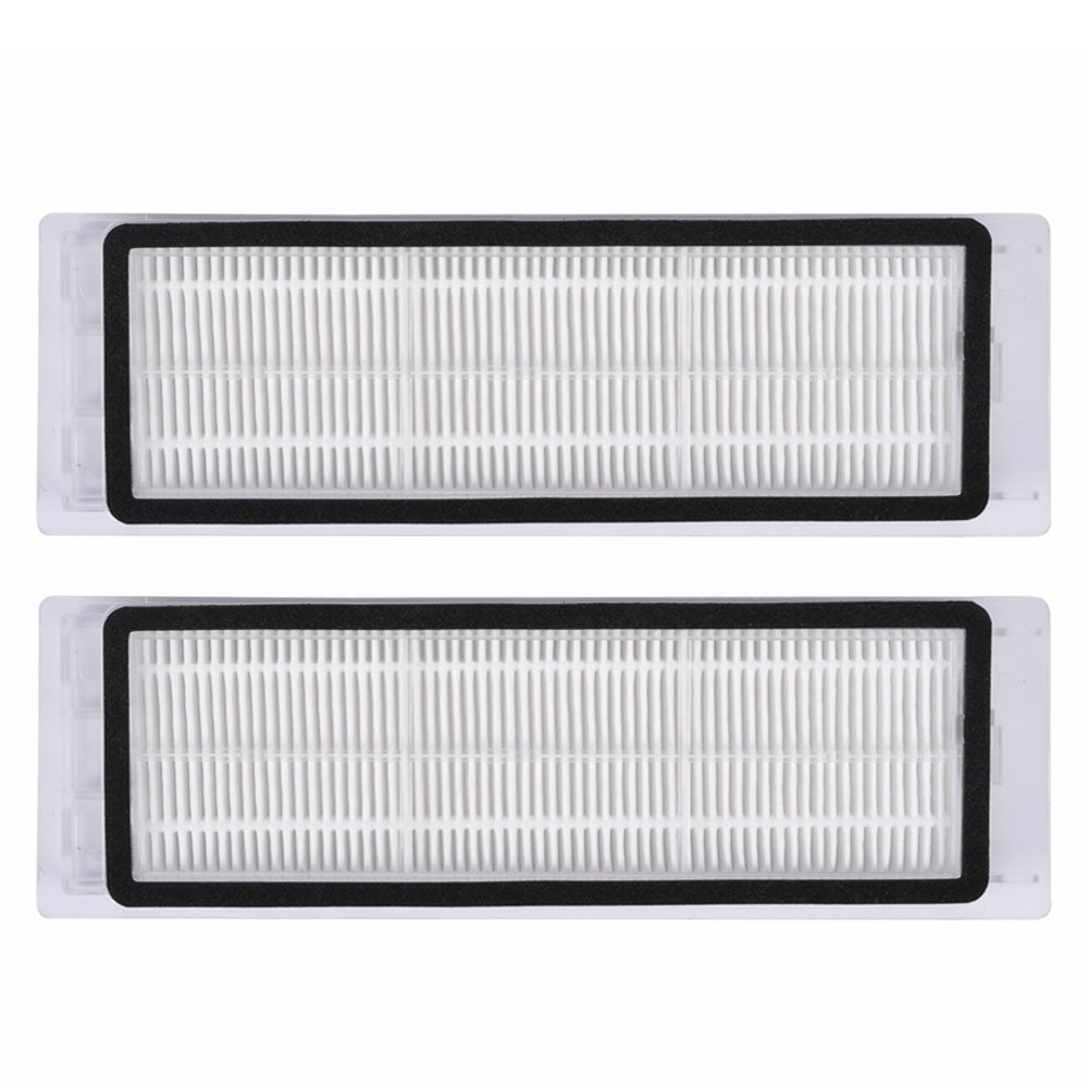 2Pcs Robotic Vacuum Cleaner robotic parts Pack HEPA Filter for xiaomi mi Robot Filters cleaner accessories xiaomi 2pcs set robot vacuum filter xiaomi robotic vacuum cleaner parts hepa filter original filters replacements