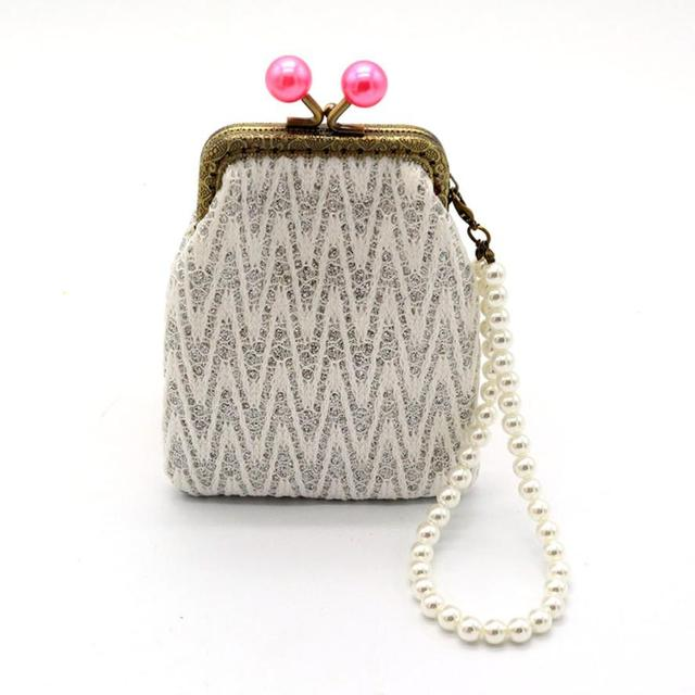 Xiniu bags for women 2017 Women Wallets Small Coin Purses With Pearl Chain  Wallet Hasp Purse Ladies Clutch Bag carteras mujer WM 90968df23478