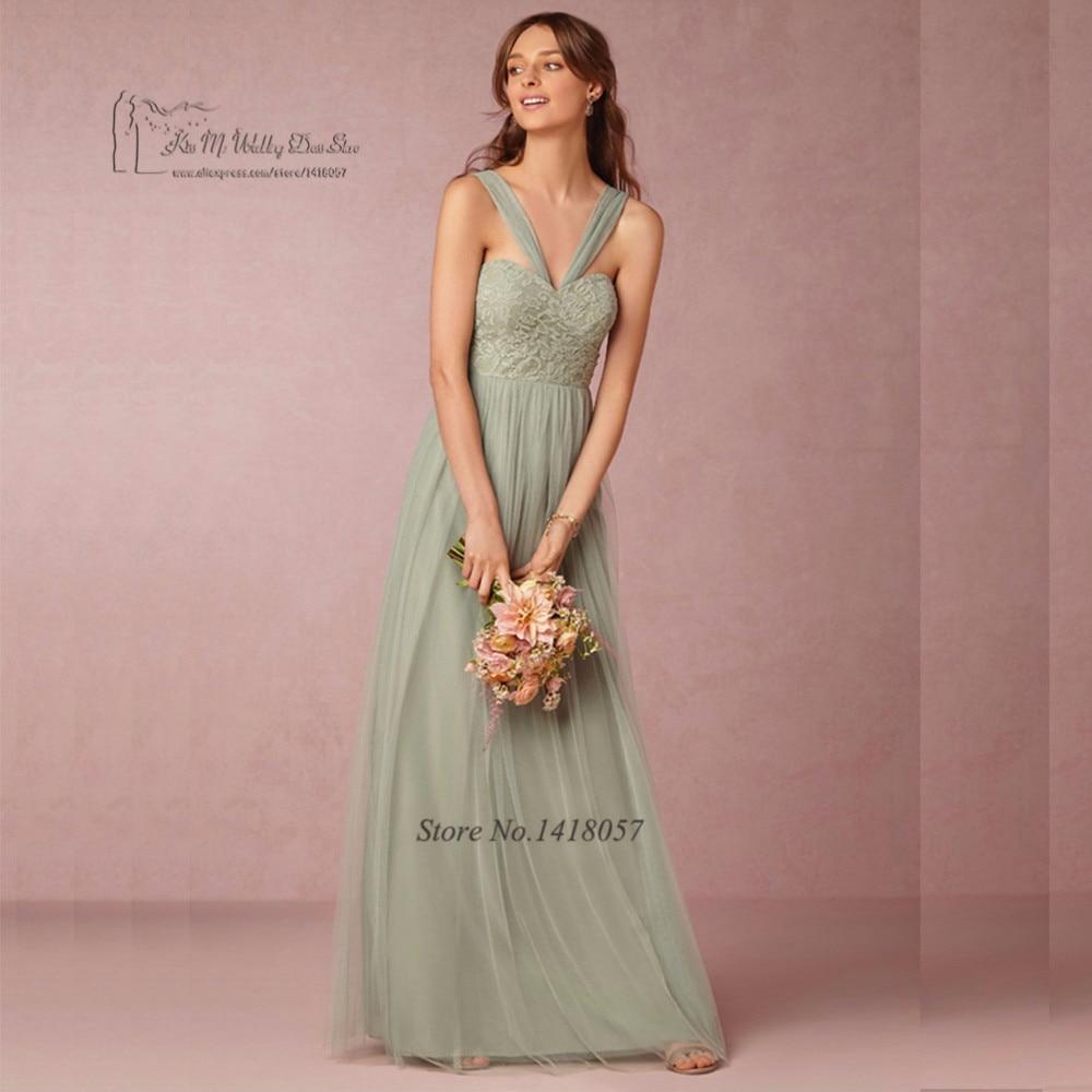 Único Verde Azulado Vestido De La Dama De Honor Motivo - Colección ...