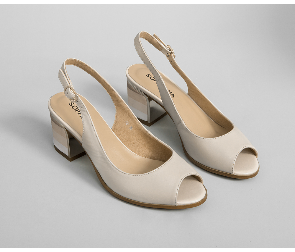 HTB1AWLoXoGF3KVjSZFvq6z nXXaA SOPHITINA Sandals Handmade Genuine Leather 2019 New Sexy Lady Peep Toe Sandals Square Heel Buckle Strap Classics Shoes Woman S22
