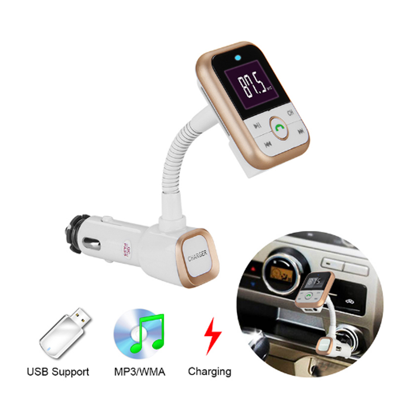 IDEAUDIO Bluetooth carkit FM-zender LCD MP3-speler Handsfree - Auto-elektronica