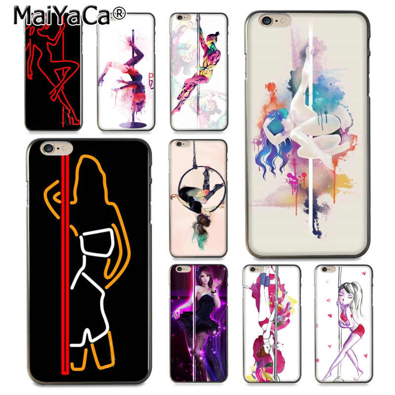 MaiYaCa Pole เต้นรำสาวการ์ตูนความแปลกใหม่ Fundas สำหรับ iphone ของ Apple iphone 8 7 6 Plus X XS XR XSMax 5 5S SE Cover