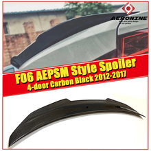F06 Rear boot Trunk spoiler lip wing sport trim lid PSM style Carbon For BMW 6 Series 640i 650i M6 Look rear 12-17