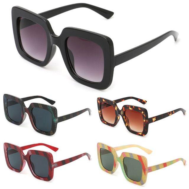 e22dbdf7382 2018 New Chic Sunglasses Large Frame Square Eyewear UV400 Fashion Driving  Mirror Sunglasses Dropshipping