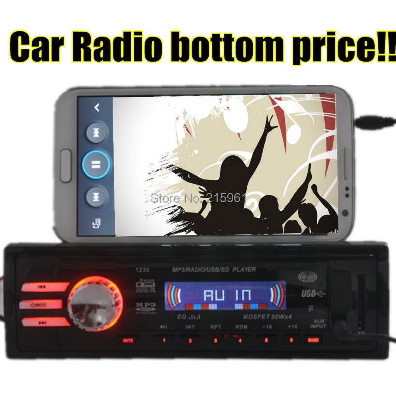 2015 nueva 12 V Car radio Stereo FM Radio MP3 Reproductor de Audio 5 V Cargador