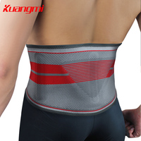 Kuangmi Fitness Warm Sport Roshe run Lumbar Support Belt Ceintures Homme Pressurized Back Aist Silicone triangle pad Support 1PC