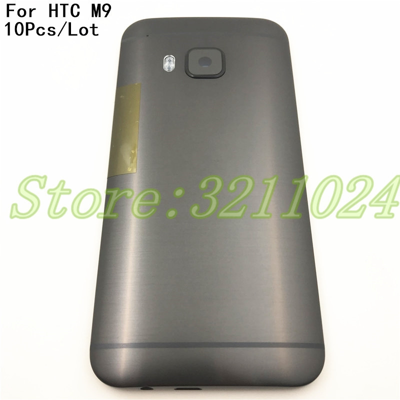 10Pcs/Lot High quality Black/Gold/Silver Rear housing For <font><b>HTC</b></font> <font><b>one</b></font> <font><b>M9</b></font> back cover <font><b>battery</b></font> <font><b>case</b></font> door with buttons image