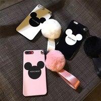 Lindo Mickey IMD Brillante Brillante Impresión de Silicona Suave Teléfono Móvil casos De Coque iPhoneX 8 8 Más Encantadora Concha Protectora Funda caso