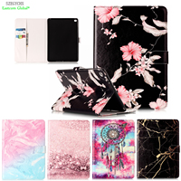 Marble Pattern PU Leather Flip Case For IPad Air 2 Case Smart Cover For IPad 6