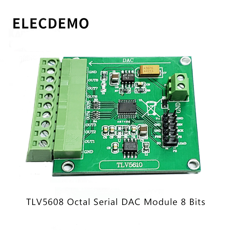 TLV5608 Module Octal Serial DAC Module TLV5610/TLV5608/TLV5629 Digital to Analog Conversion Function demo Board-in Demo Board Accessories from Computer & Office