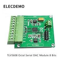 TLV5608 Module Octal Serial DAC Module TLV5610/TLV5608/TLV5629 Digital to Analog Conversion Function demo Board module fx2n 4ad tc special function blocks original