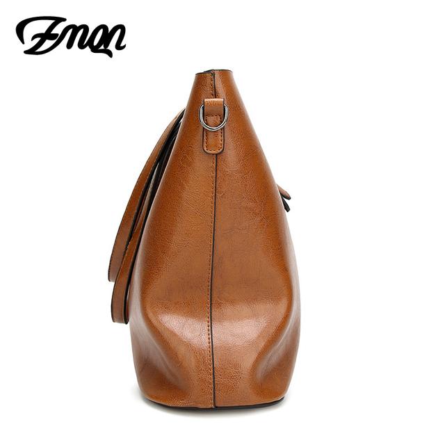 ZMQN High Quality Oil Wax Vintage PU Leather